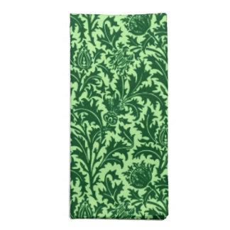 William Morris-Distel-Damast, Smaragdgrün Stoffserviette