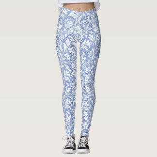 William Morris-Distel-Muster-Gewohnheits-Farbe Leggings