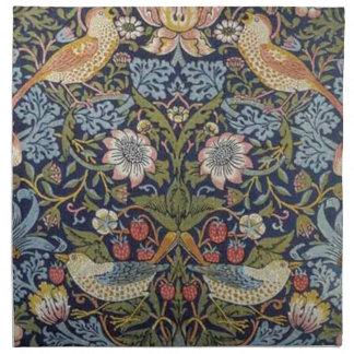 William Morris-Erdbeerdieb-Entwurf 1883 Serviette