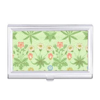 William Morris-Gänseblümchen-Muster Visitenkarten-Halter