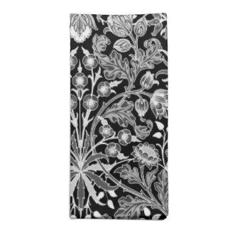 William Morris-Hyazinthen-Druck, Schwarzweiss Serviette