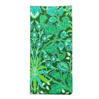 William Morris-Hyazinthen-Druck, Smaragdgrün Stoffserviette