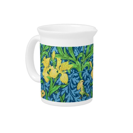 William Morris-Iris, Gelb und Kobalt-Blau Getränke Pitcher