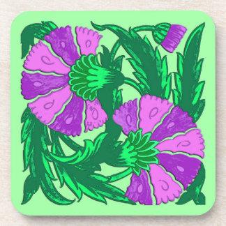 William Morris Jacobean, Orchidee lila und grün Getränkeuntersetzer