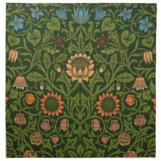 William Morris-Tapisserie-Wolldecke-roter grüner Serviette