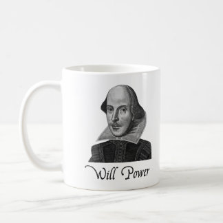 William Shakespeare wird Power Tasse
