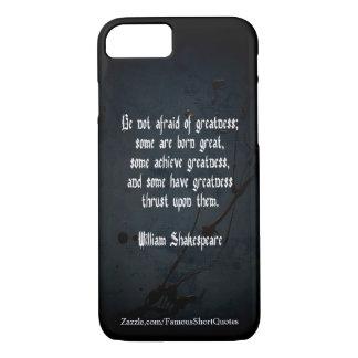 William Shakespeare-Zitat - Größe iPhone 8/7 Hülle