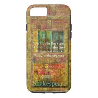 William Shakespeare-ZITAT über Schicksal iPhone 8/7 Hülle