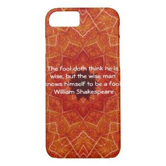 William- Shakespeareklugheits-Zitat-Sprichwort iPhone 8/7 Hülle
