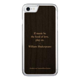 William- Shakespearezitat - Liebe Carved iPhone 8/7 Hülle