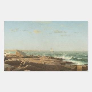 William Stanley Haseltine - Narragansett Bucht Rechteckiger Aufkleber