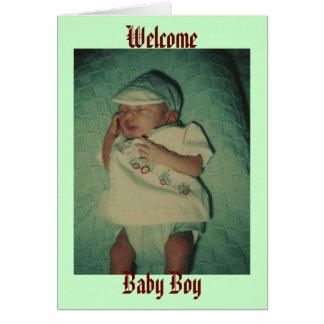 Willkommen, Baby Grußkarte