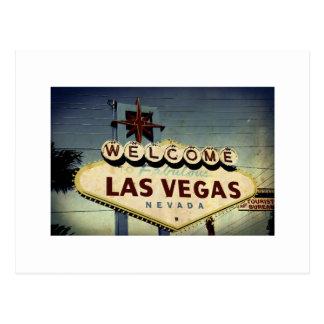 """""""Willkommen nach Las Vegas"""" Vintage Postkarte"""