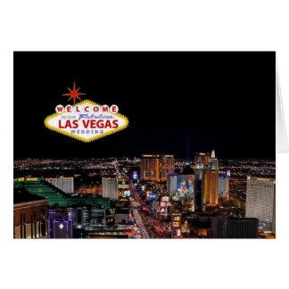 Willkommen nach unser fabelhaftes Las Vegas, das I Grußkarte