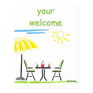 Willkommen Postkarte