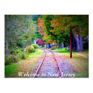 Willkommen zu New-Jersey Postkarte