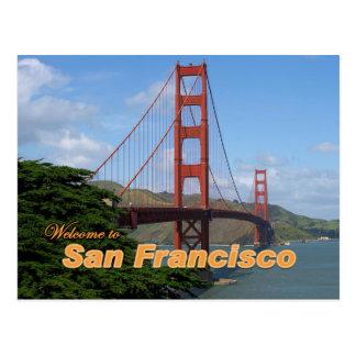 Willkommen zu San Francisco - Golden gate bridge Postkarten