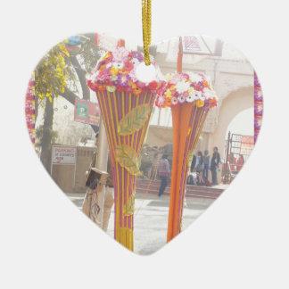 Willkommene Tore Neu-Delhi 2016 Indien-Reisen Keramik Herz-Ornament