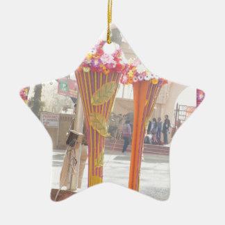 Willkommene Tore Neu-Delhi 2016 Indien-Reisen Keramik Stern-Ornament