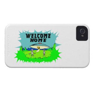 Willkommene Zuhause-Außerirdische iPhone 4 Cover