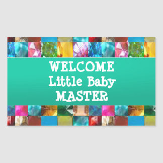 Willkommener BABY Meister Rechteckiger Aufkleber