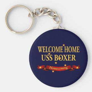 Willkommener Boxer des Zuhause-USS Schlüsselanhänger
