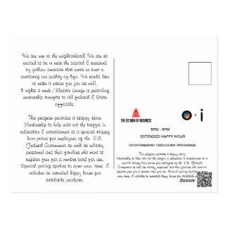 Willkommener Buchstabe Postkarte