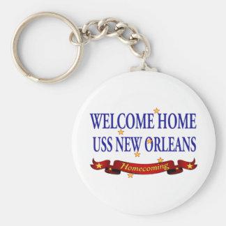 Willkommenes Zuhause USS New Orleans Schlüsselanhänger