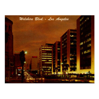 Wilshire Boulevard. nachts Los Angeles Vintag Postkarte