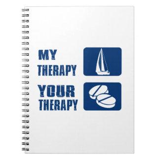 Wind-Segelnentwürfe und -Geschenkartikel Spiral Notizbücher