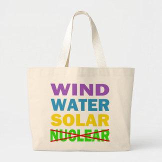 Wind-Wasser-Solarnicht nukleares Jumbo Stoffbeutel