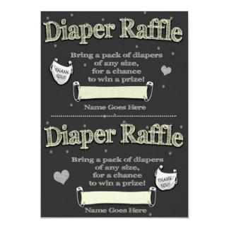 WindelRaffle etikettiert niedliche Baby-Dusche 12,7 X 17,8 Cm Einladungskarte