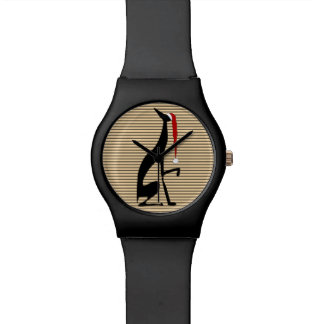 Windhund-cooles Streifen-Weihnachtsnobler Uhr
