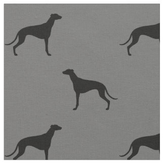 Windhund-Silhouette-Muster Stoff