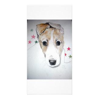 Windhund-Welpe Photokarte