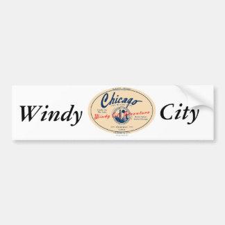 Windige Stadt Chicagos Autoaufkleber