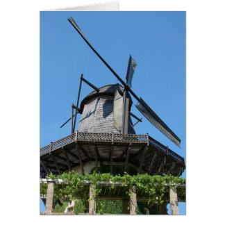 Windmühle auf einem Hügel Karte