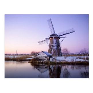 Windmühle während des Sonnenaufgangs, Postkarte