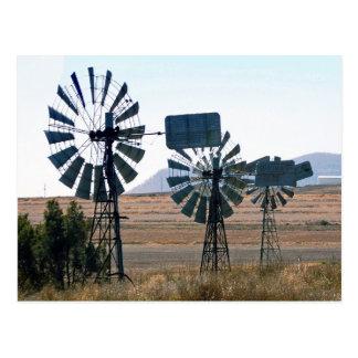 Windmühlen durch 3 postkarte
