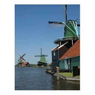 Windmühlen Zaanse Schans in Holland Postkarte
