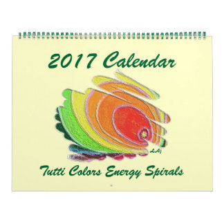 Windt sich 2017 Kalender farbige Energie enorme
