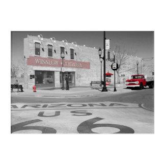 Winslow Arizona rote Spritzen-Fotografie Acryldruck