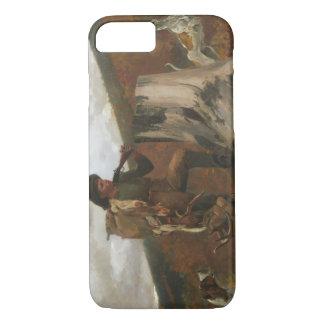 Winslow Homer - ein Jäger und Hunde iPhone 8/7 Hülle