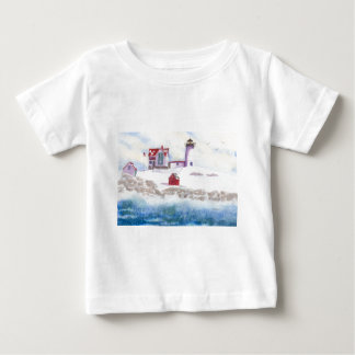 Winter am Klumpen-Leuchtturm in Maine Baby T-shirt