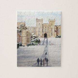 Winter an Windsor Schloss durch Farida Greenfield Puzzle