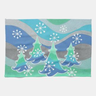 Winter-Baum-Geschirrtuch Handtuch