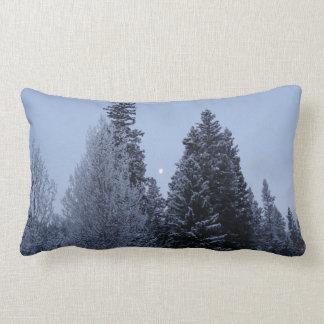 Winter-Bäume an der Dämmerung Lendenkissen