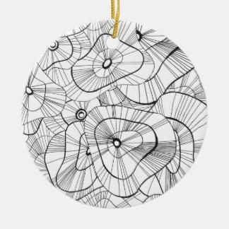 Winter-Blumen Keramik Ornament