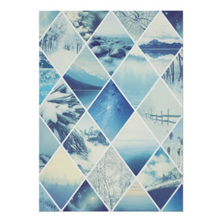 Winter-Diamant-Muster Poster