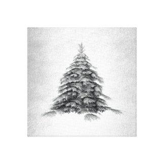 Winter-Eindrucks-Minimalismus-moderne Kunst Leinwanddruck